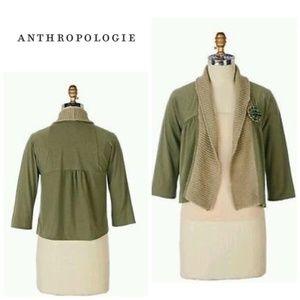ANTHROPOLOGIE Olio Cardigan Olive Green
